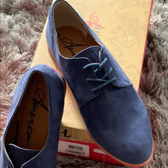 """American Rag Shoes - American Rag NEW faux suede """"Stanny"""" navy oxfords"""